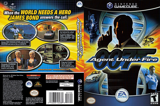 James Bond 007 in Agent Under Fire GameCube cover (GW7E69)
