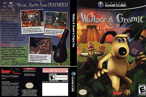 Wallace & Gromit in Project Zoo GameCube cover (GWLE6L)
