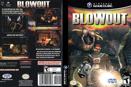 Blowout GameCube cover (GWOE5G)
