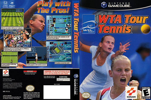 WTA Tour Tennis GameCube cover (GWTEA4)