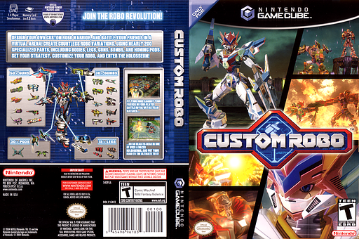 Custom Robo GameCube cover (GXCE01)