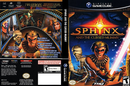 Sphinx and the Cursed Mummy GameCube cover (GXPE78)