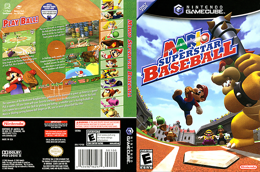 Mario Superstar Baseball GameCube cover (GYQE01)