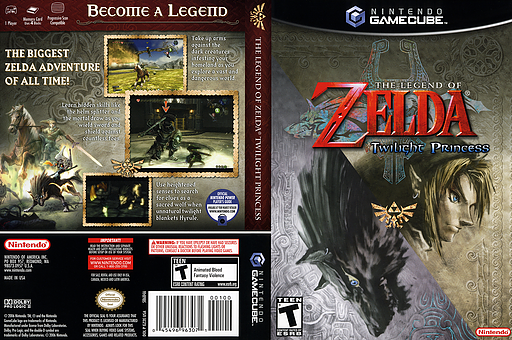 The Legend of Zelda: Twilight Princess GameCube cover (GZ2E01)