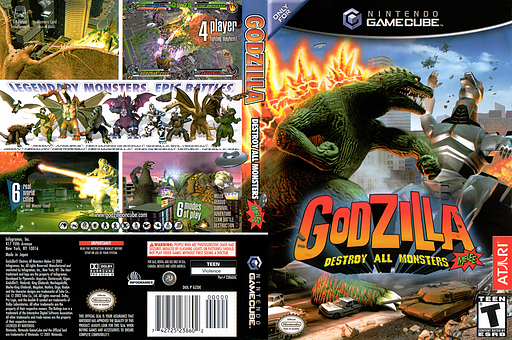 Godzilla: Destroy all Monsters Melee GameCube cover (GZDE70)