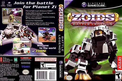 Zoids Battle Legends GameCube cover (GZSE70)
