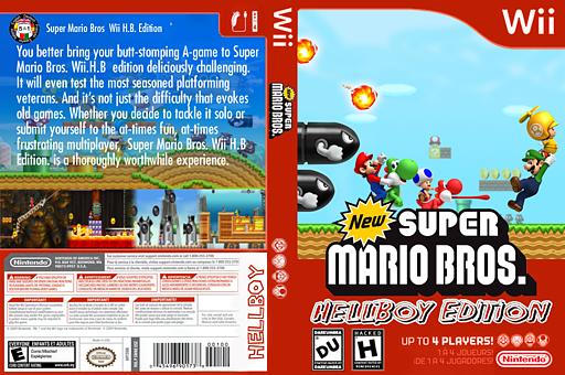 New Super Mario Bros. Wii:Hellboy Edition CUSTOM cover (HBWE01)