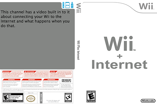 Wii + Internet Channel cover (HCGE)