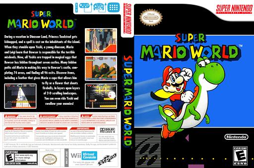 Super Mario World VC-SNES cover (JAAE)