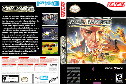 Metal Marines VC-SNES cover (JBAE)