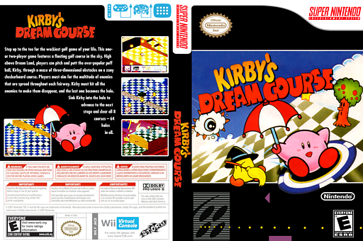 Kirby's Dream Course VC-SNES cover (JBCE)