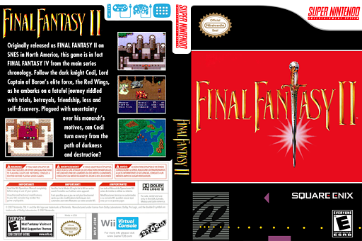 Final Fantasy II VC-SNES cover (JC8E)