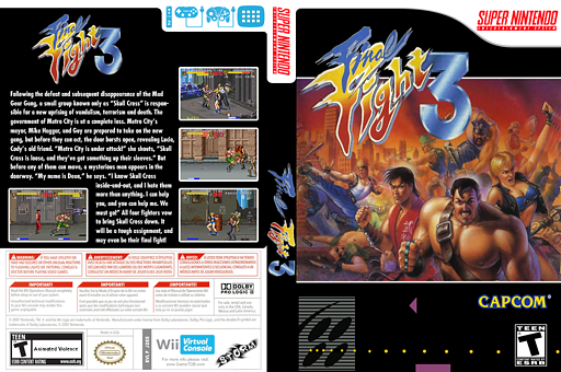 Final Fight 3 VC-SNES cover (JDEE)