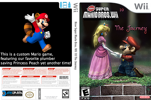 New Super Mario Bros. Wii 10 The Journey CUSTOM cover (JOUE01)