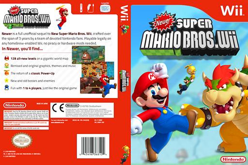 Newer Super Mario Bros. Wii CUSTOM cover (KMNE03)