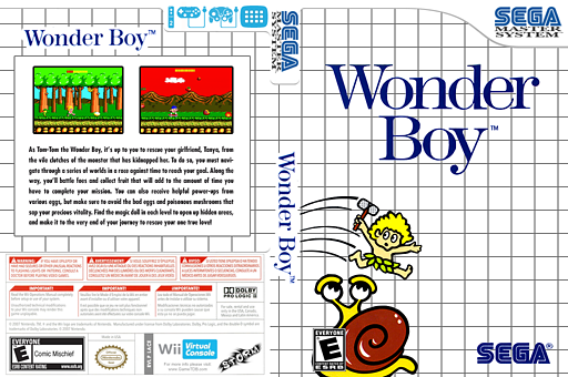 Wonder Boy VC-SMS cover (LACE)