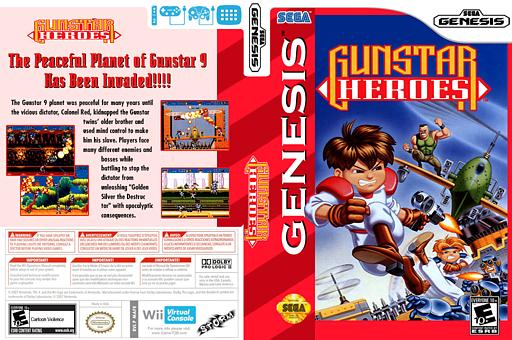 Gunstar Heroes VC-MD cover (MAFE)