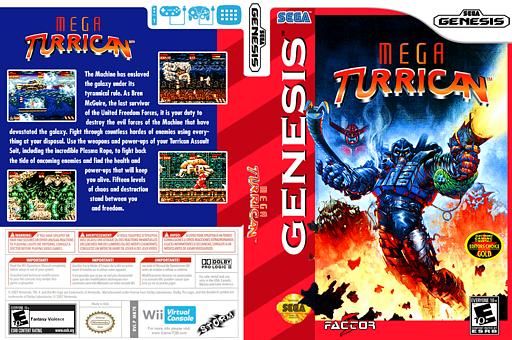 Mega Turrican VC-MD cover (MB7E)