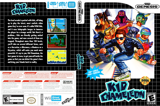 Kid Chameleon VC-MD cover (MBCE)
