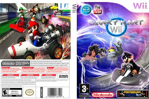Darky Kart Wii CUSTOM cover (MKDE02)