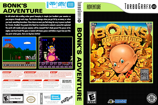 Bonk's Adventure VC-PCE cover (PABE)