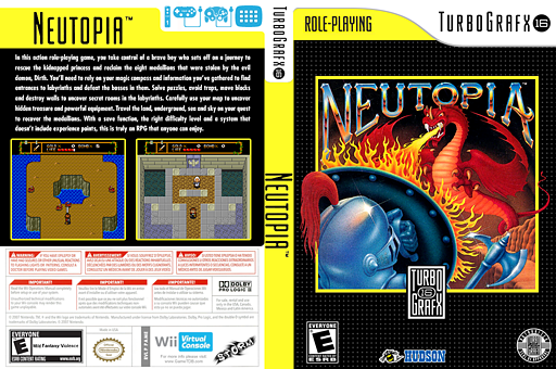 Neutopia VC-PCE cover (PAME)