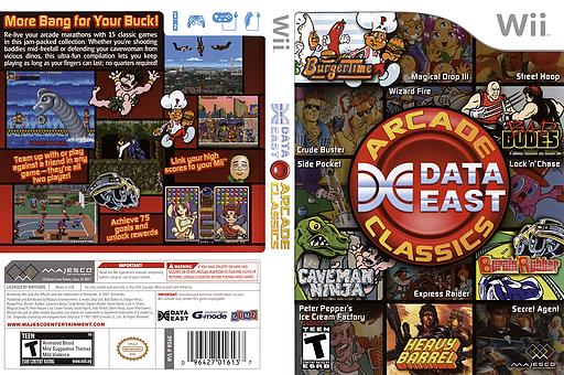 Data East Arcade Classics Wii cover (R26E5G)