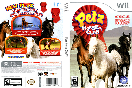 Petz Horse Club Wii cover (R2HE41)