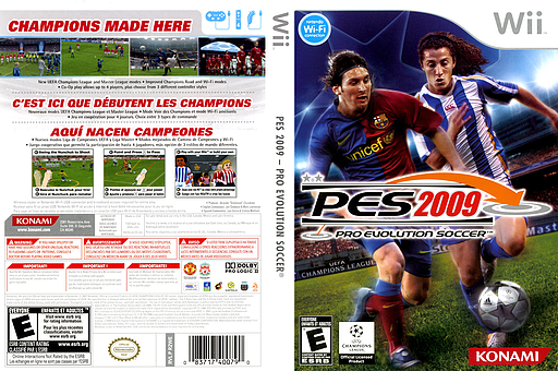 Pro Evolution Soccer 2009 Wii cover (R2WEA4)