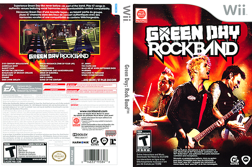 Green Day: Rock Band Wii cover (R36E69)