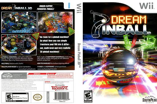 Dream Pinball 3D Wii cover (R3DES5)