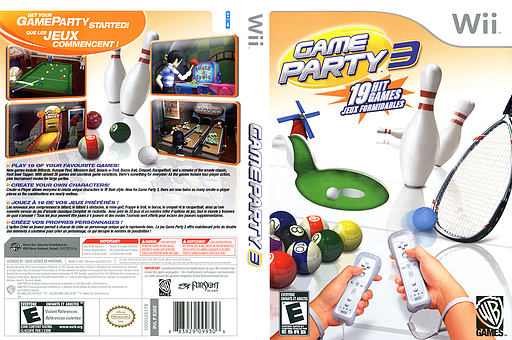 Game Party 3 Wii cover (R3EEWR)