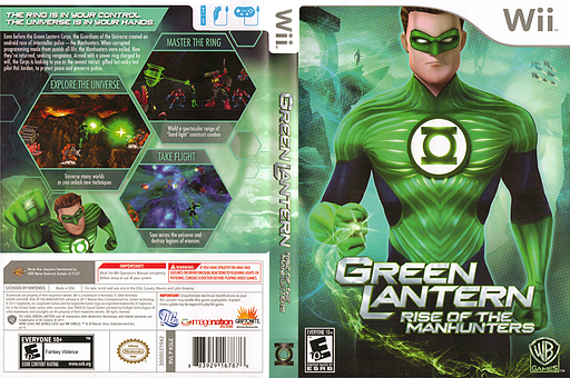 Green Lantern: Rise of the Manhunters Wii cover (R3LEWR)
