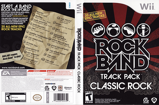 Rock Band Track Pack: Classic Rock Wii cover (R3ZE69)