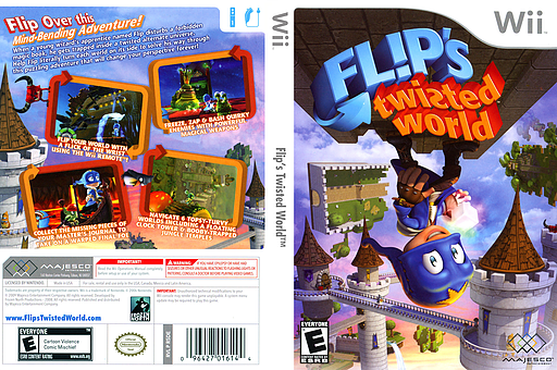 Flip's Twisted World Wii cover (R5DE5G)