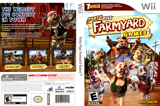 Party Pigs: Farmyard Games Wii cover (R5OENR)