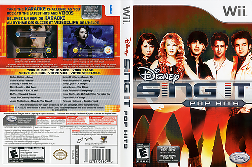 Disney Sing It: Pop Hits Wii cover (R62E4Q)