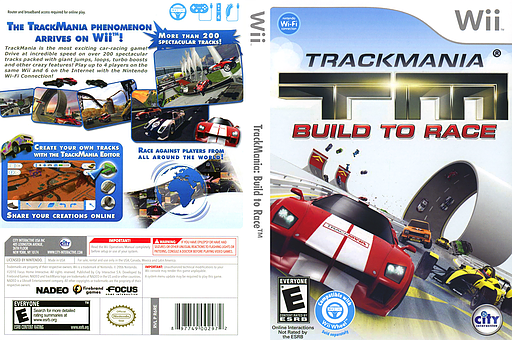 TrackMania: Build to Race Wii cover (R6REJH)