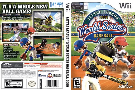 Little League World Series Baseball 2009 Wii cover (R7RE52)