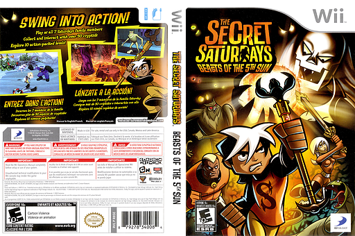 The Secret Saturdays: Beasts of the 5th Sun Wii cover (R85EG9)