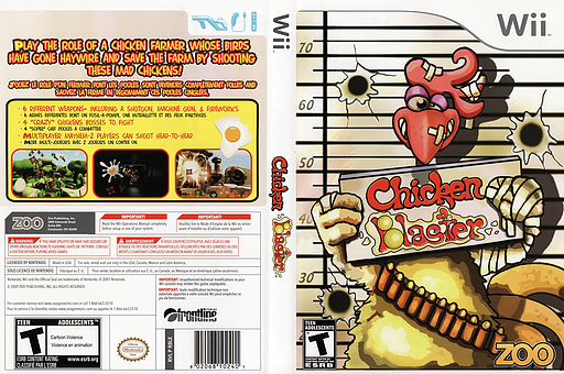 Chicken Blaster Wii cover (R8LE20)