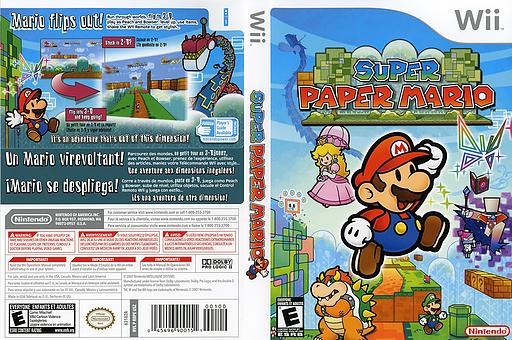 Super Paper Mario Wii cover (R8PE01)