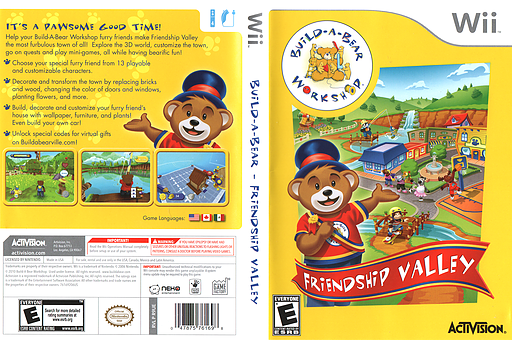 Build-A-Bear Workshop: Friendship Valley Wii cover (R9UE52)