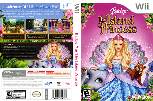 Barbie as The Island Princess Wii cover (RBVE52)