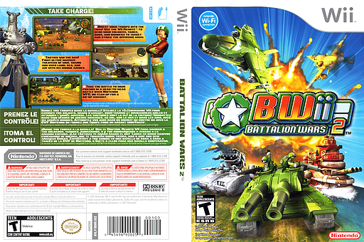 Battalion Wars 2 Wii cover (RBWE01)