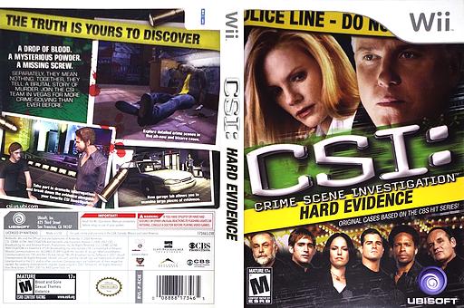 CSI: Hard Evidence Wii cover (RCIE41)