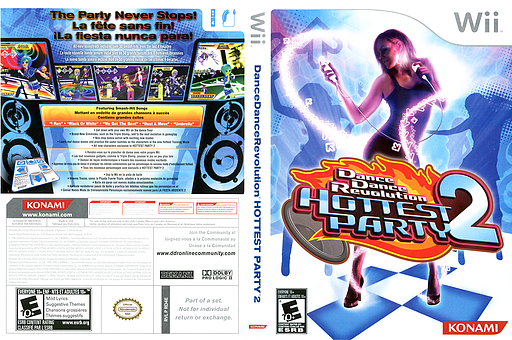 Dance Dance Revolution: Hottest Party 2 Wii cover (RD4EA4)