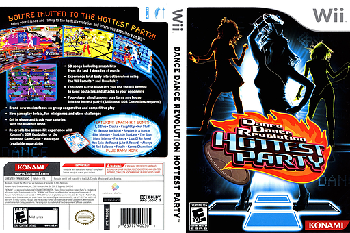Dance Dance Revolution: Hottest Party Wii cover (RDDEA4)