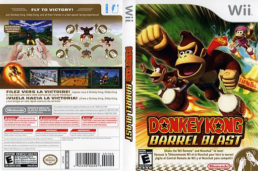 Donkey Kong: Barrel Blast Wii cover (RDKE01)