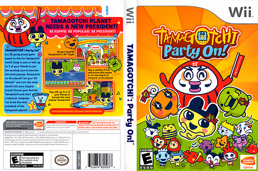 Tamagotchi: Party On! Wii cover (RDTEAF)